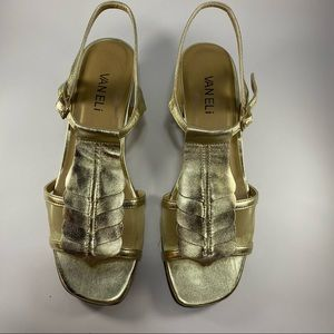 Vaneli Gold Sandals